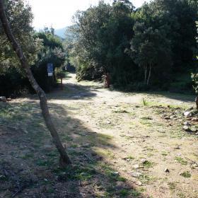 Partenza del sentiero 216 presso Pantaleo