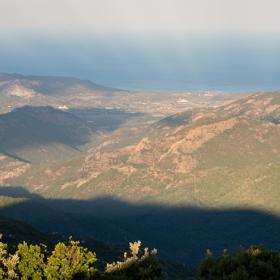 La zona dell'escursione vista da Monte Maxia