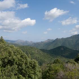 Is Cannoneris, Vista da località Baracca e Cuccu