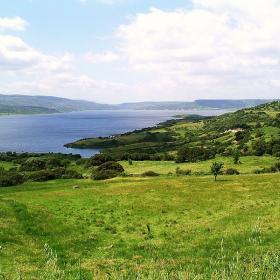 Lago Omodeo visto dalle campagne di Sedilo