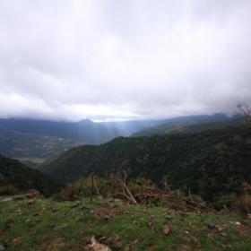 Aritzo, paesaggio autunnale in località Funtana Cungiada