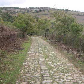 Teti, selciato romano sul sentiero T-515