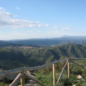 Villasalto panorama dal Belvedere su Pardu