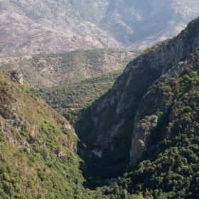 Veduta di Gutturu Pala dal sentiero