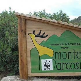 cartello ingresso Monte Arcosu
