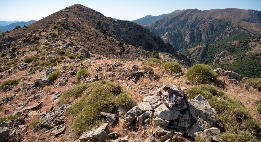La cresta nella zona di Magusu