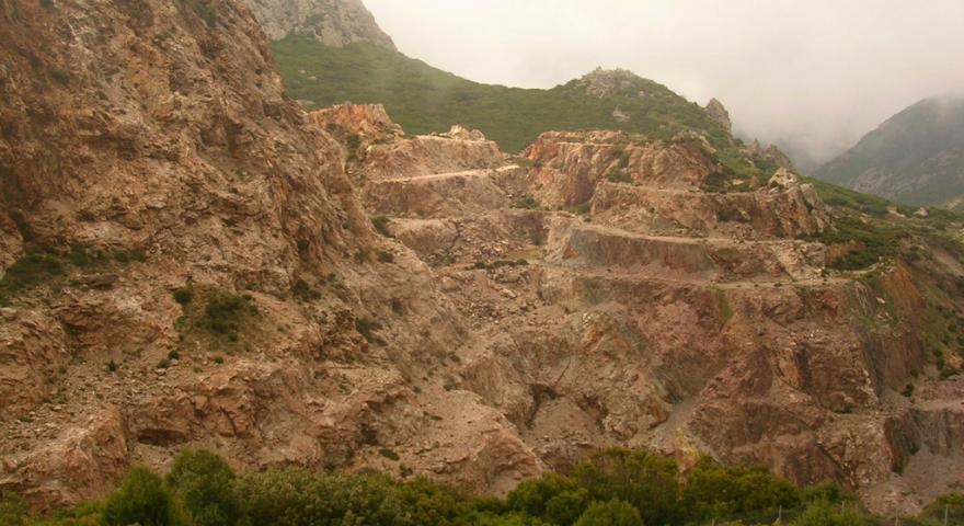 Buggerru, scavi minerari in località Nanni Frau