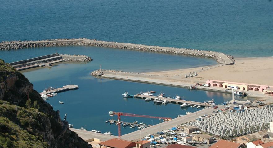Buggerru, scorcio del porto visto dal monte Rosmarino