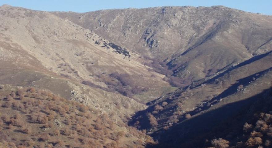 Panoramica della catena del Gennargentu vista da Arcu 'e Tuliercu