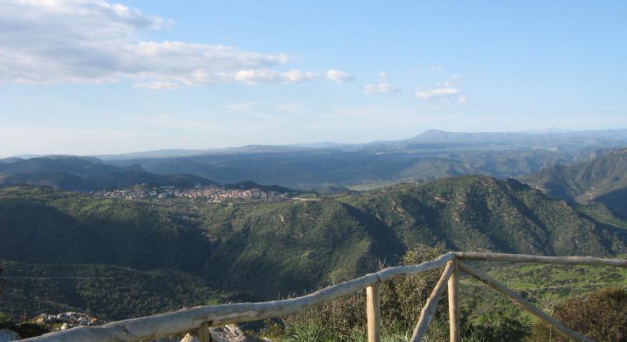 Villasalto, panorama dal Belvedere su Pardu