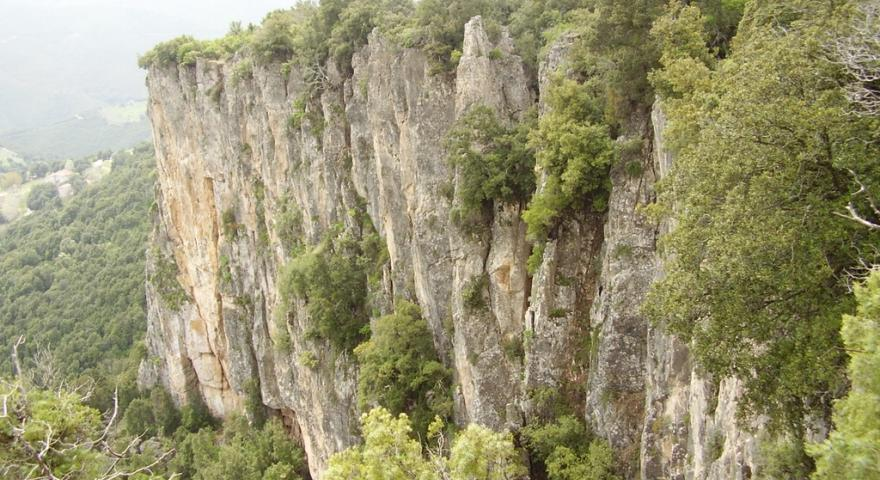 Ulassai, vista panoramica delle cascate di Santa Barbara