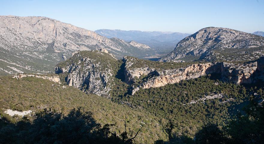 Vista verso nord da Sa Praiche 'e antonette