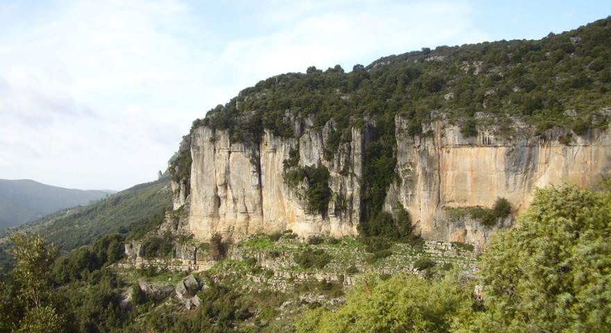 Vista panoramica dell'altopiano del Tisiddu