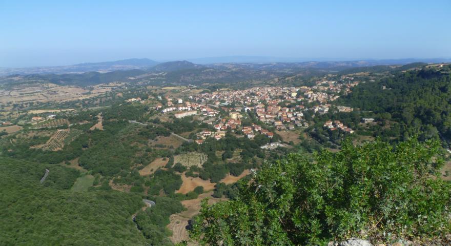 Panorama verso il Parco Aymerich dalla Punta Carradore