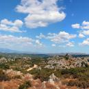 panoramica sul monte acuto dalla vetta di monte lerno