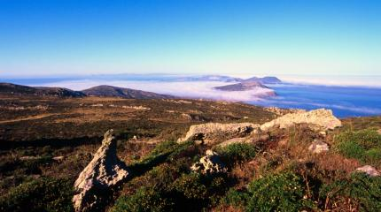Panorama dell'Asinara della parte sud-occidentale